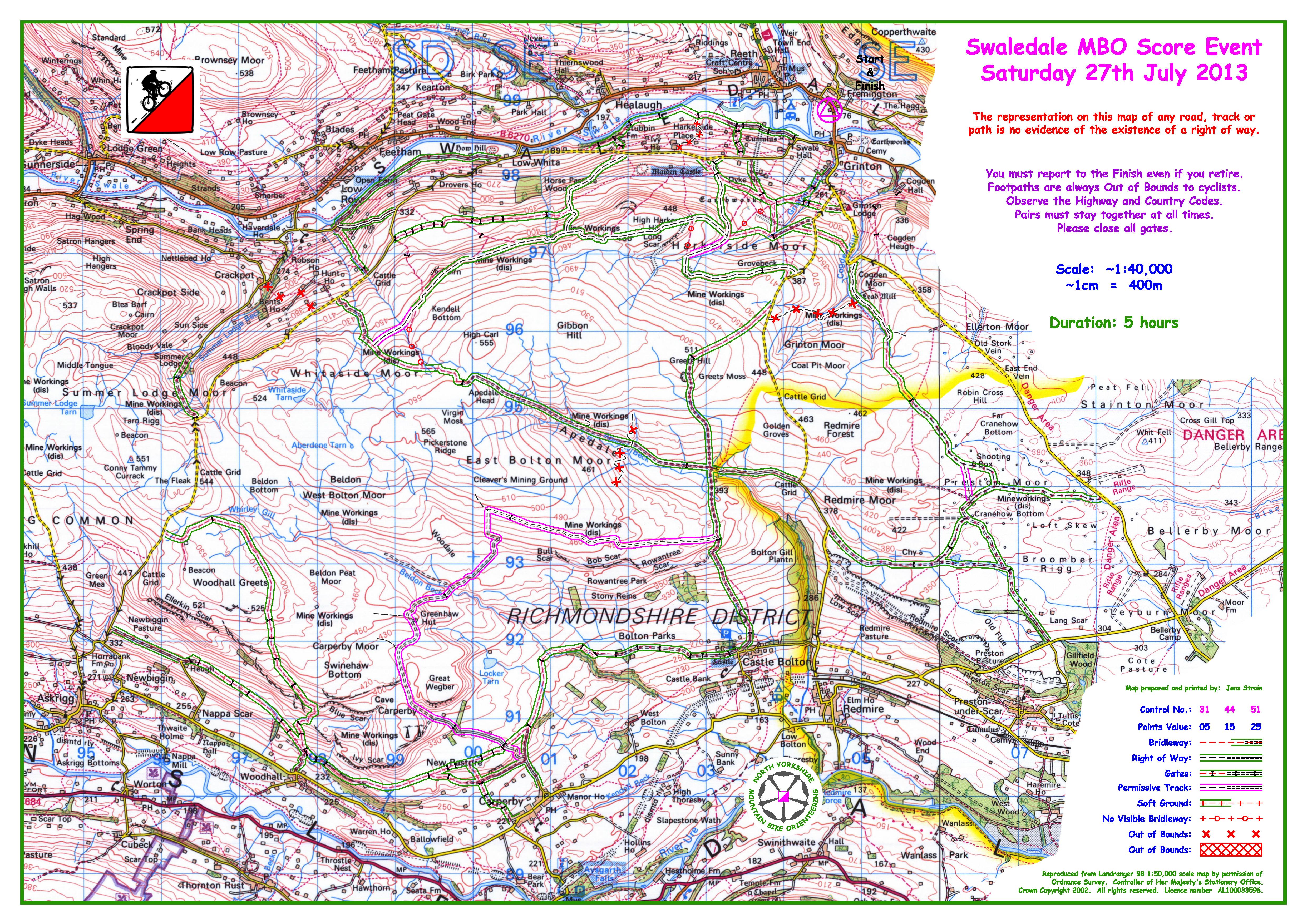 Blank map  nymbo  north yorkshire mountain bike orienteers