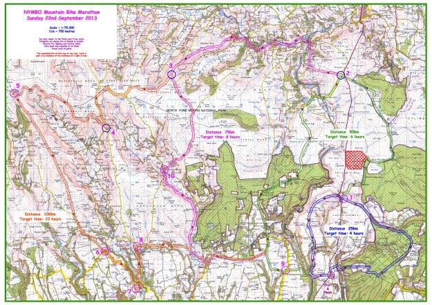 2013 Moors Marathon Map