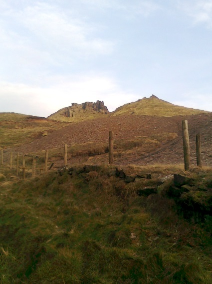 View of the Wainstones from Broughton Bank