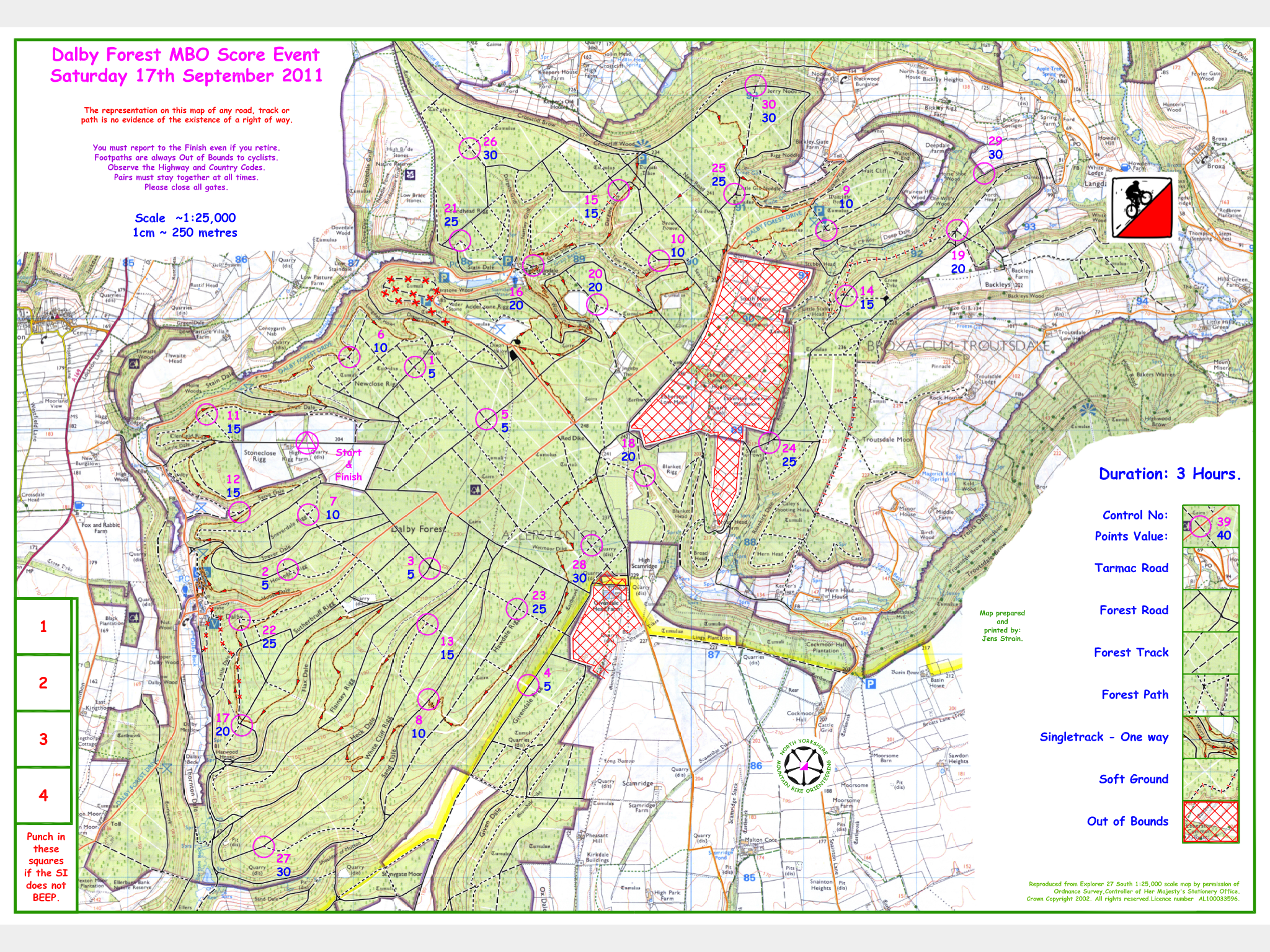 Dalby map without controls  nymbo  north yorkshire mountain
