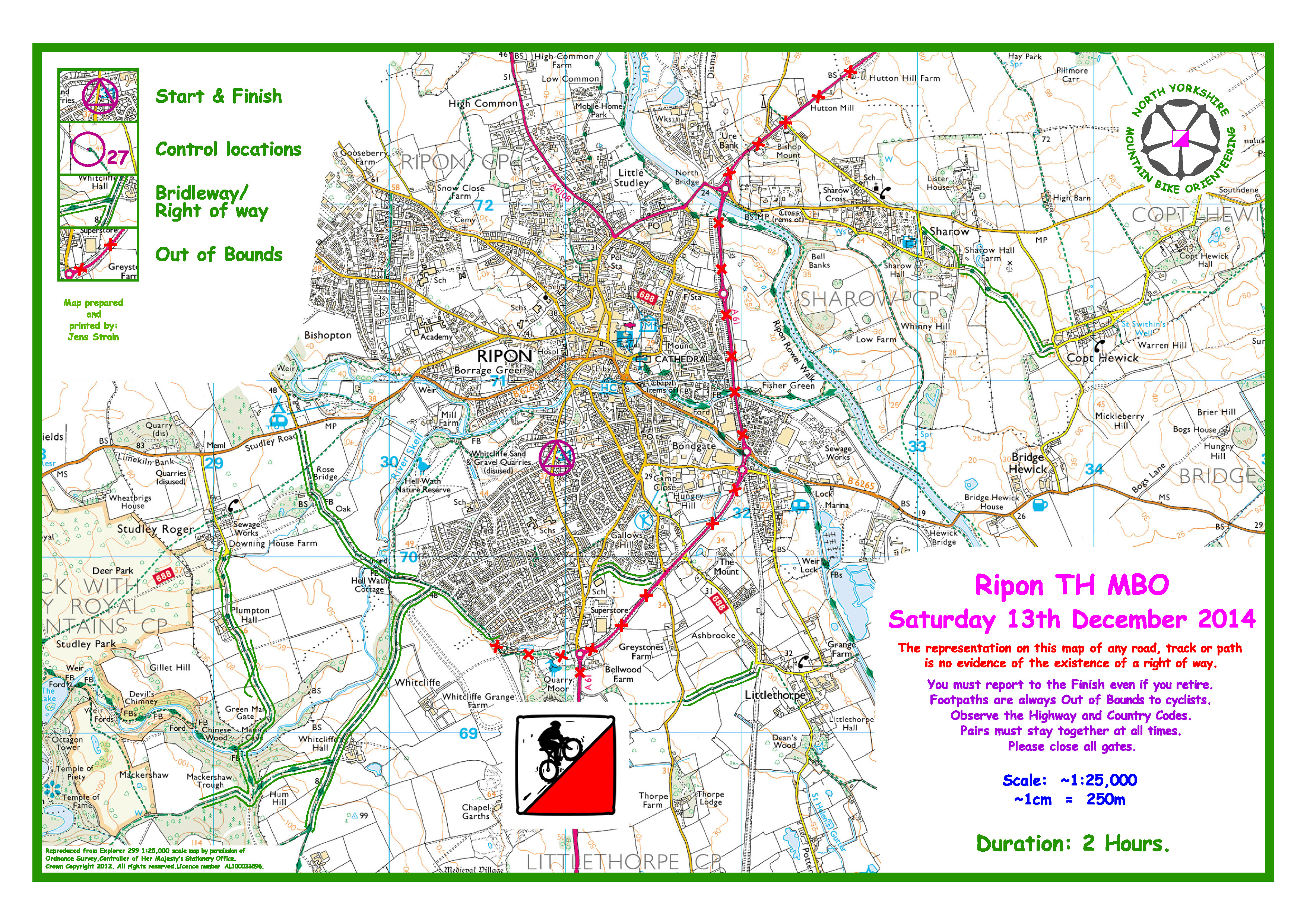 Ripon – Saay 13 December – Map without controls | nymbo ... on