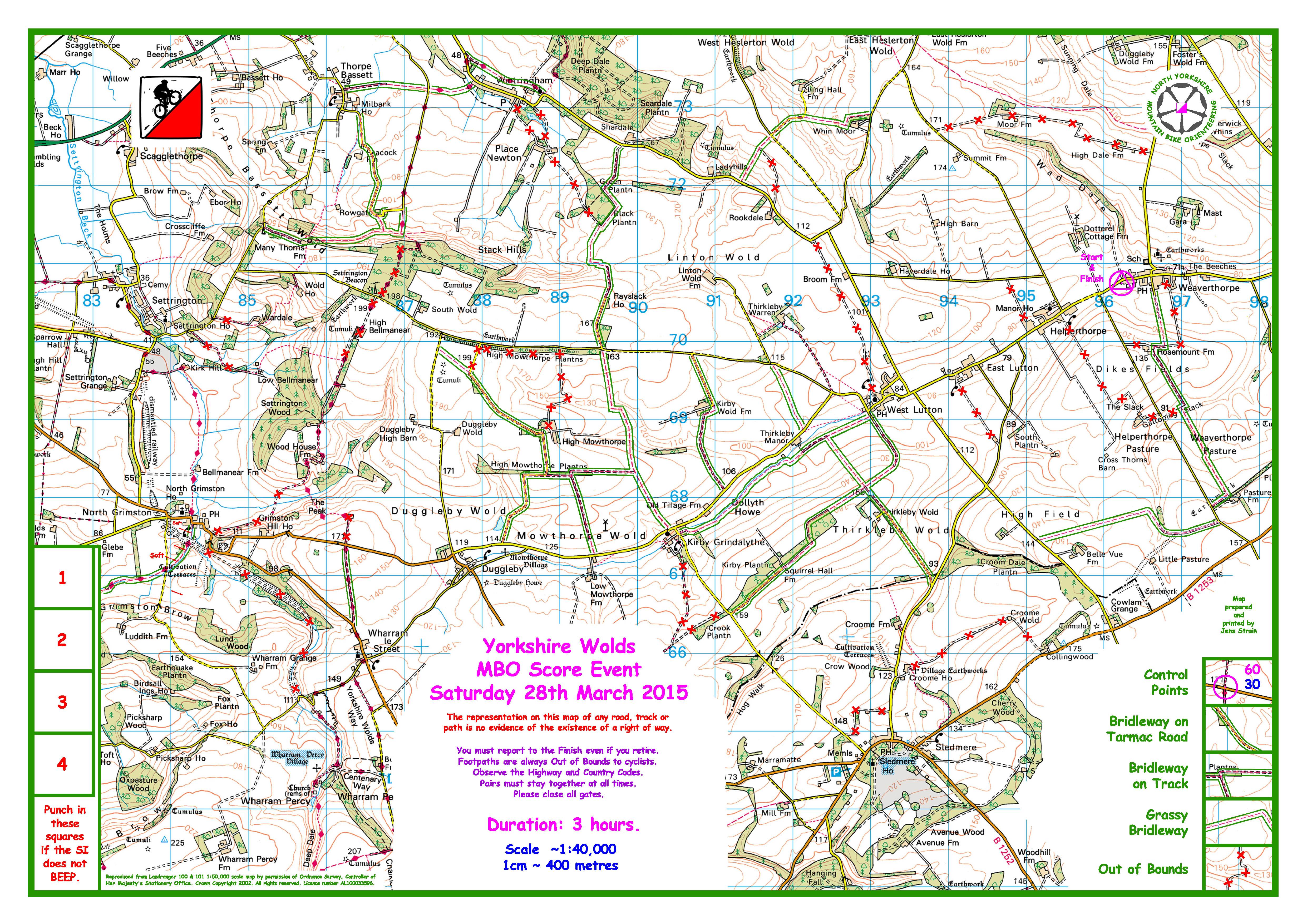 Yorkshire Wolds Blank Map now available | nymbo : north yorkshire ...