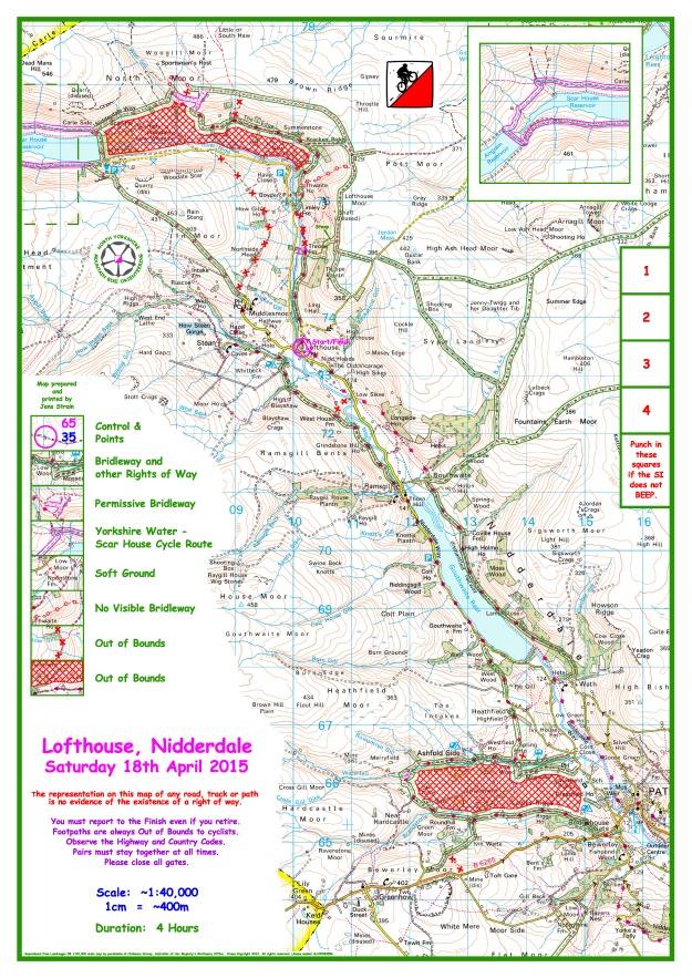 18 April 2015 Nidderdale Blank Map