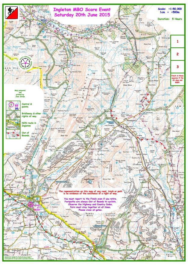 Ingleton Blank Map