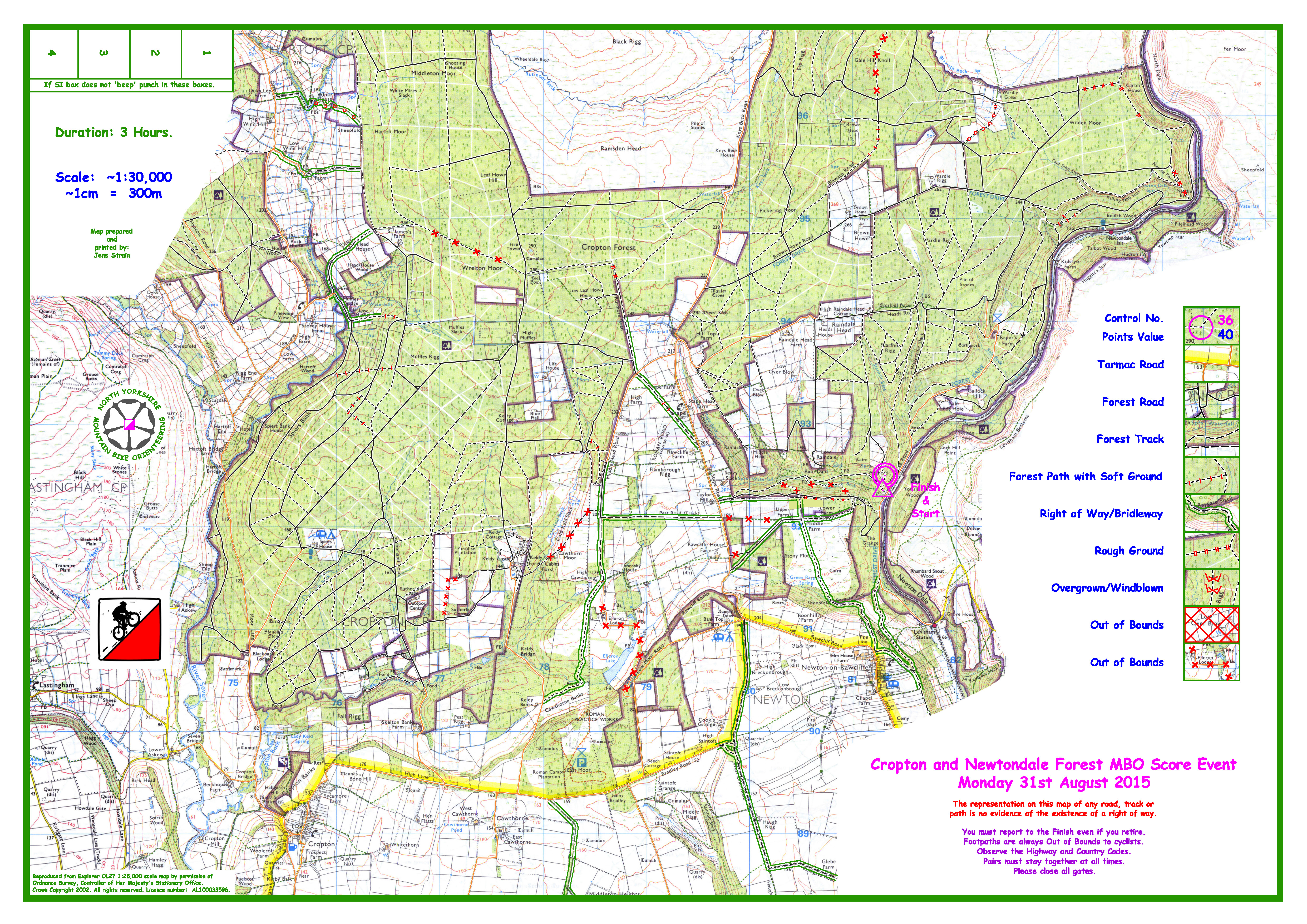 Blank map for Cropton Forest now available  nymbo  north