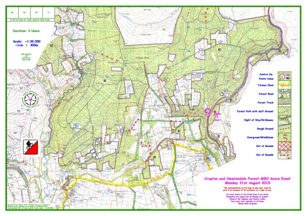 2015 Cropton and Newtondale 30000 Working Drawing without Controls 14th August