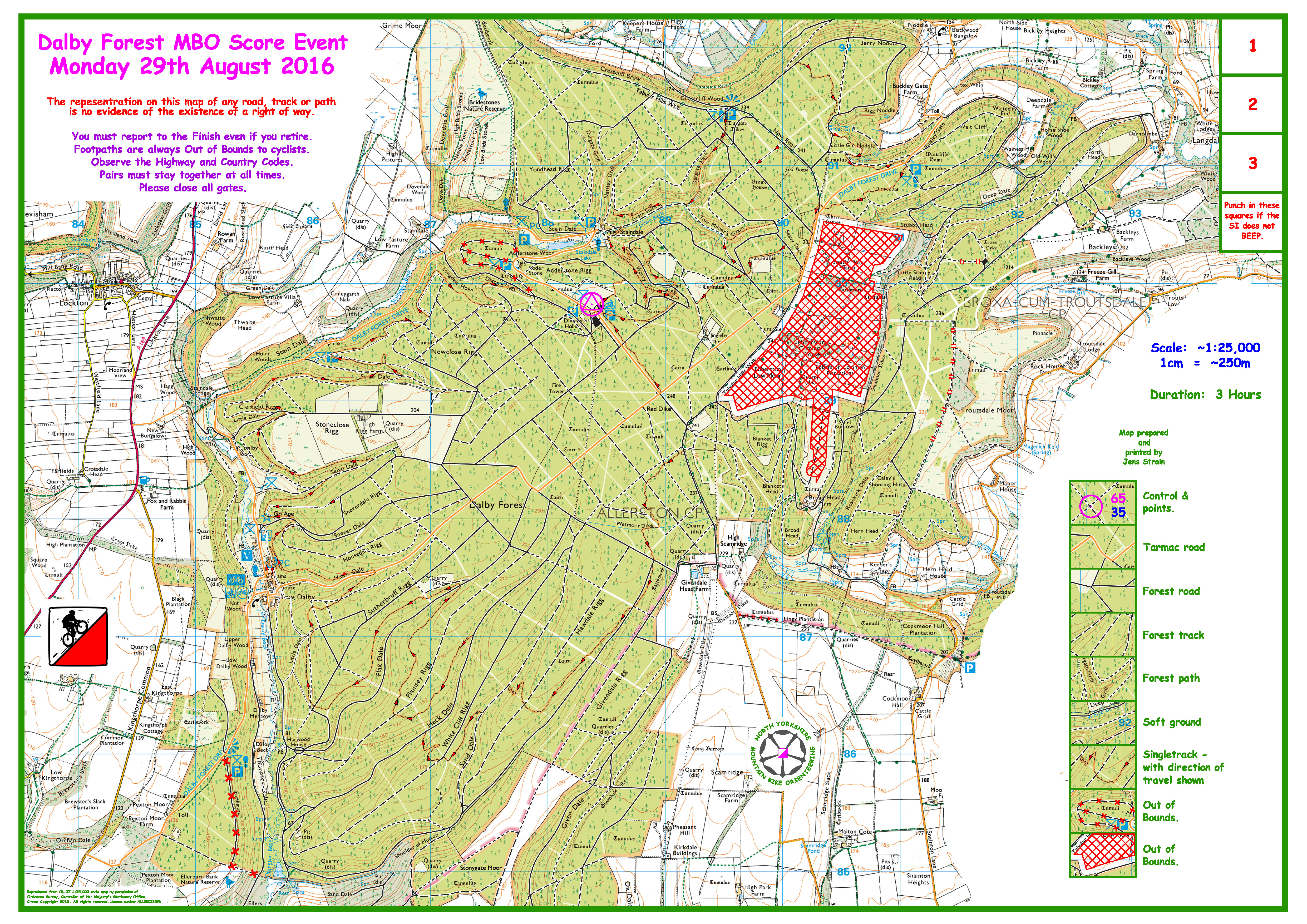 Dalby Forest Map Dalby Forest blank map now available | Event Monday 29 August  Dalby Forest Map