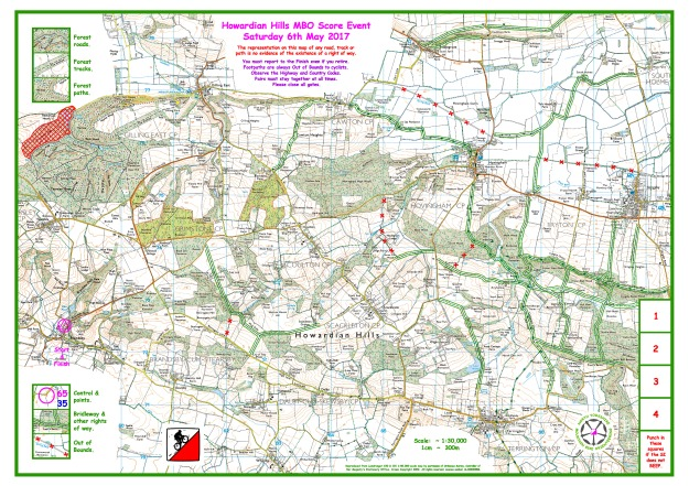 Howardian Hills Map  6th May 2017