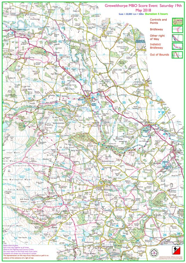 Nidderdale Blank map
