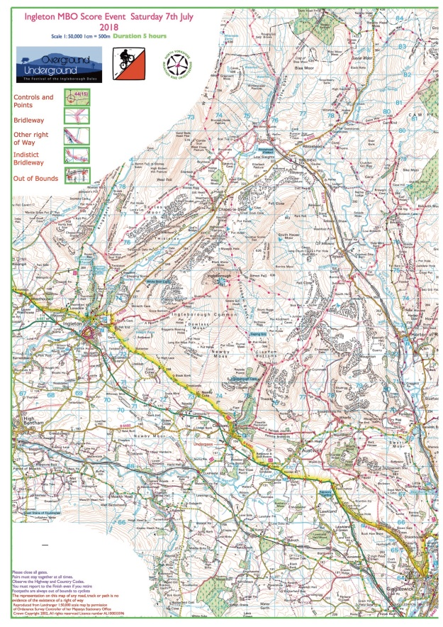 7 July 2018 - Ingleton course map