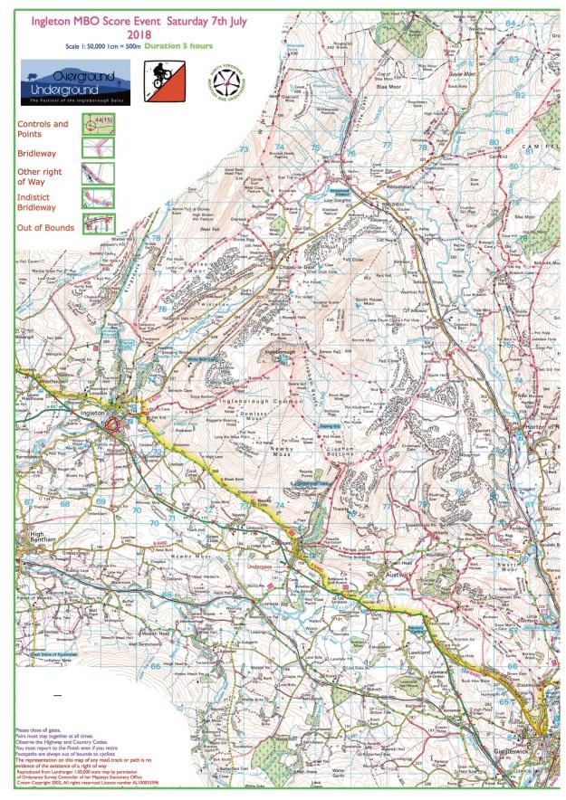 7 July 2018 - Ingleton course map